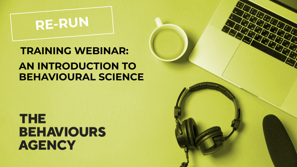 behavioural science training webinar re-run